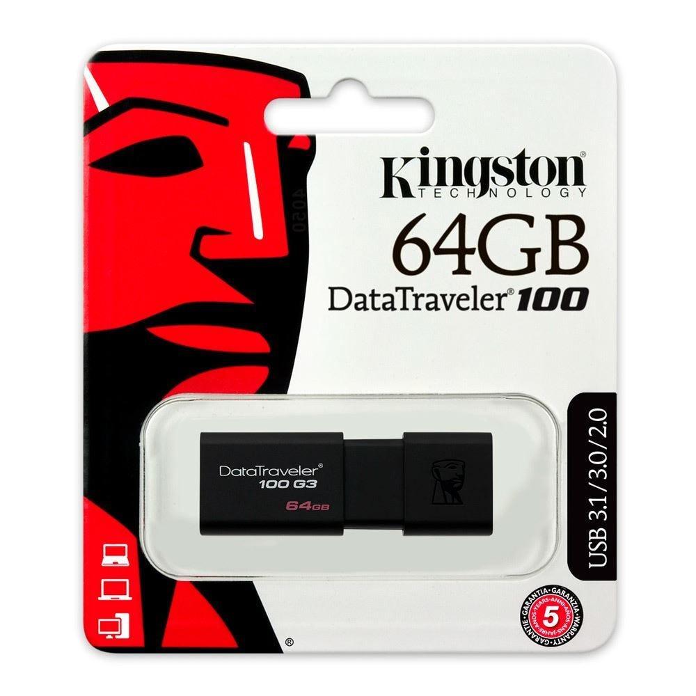 Pen Drive Kingston Datatraveler 64gb - Dt100g3